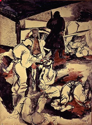 Renato Guttuso, studio per 'Gott mit uns', 1943